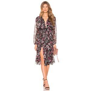 Misa Los Angeles Printed Midi Dress